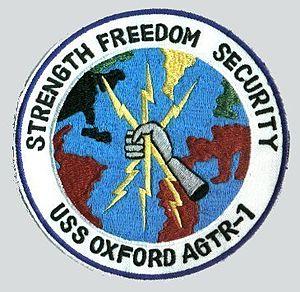 USS Oxford (AGTR-1) - Image: USS Oxford patch