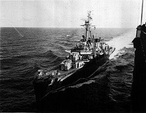 USS Remey (DD-688) underway, circa in 1958