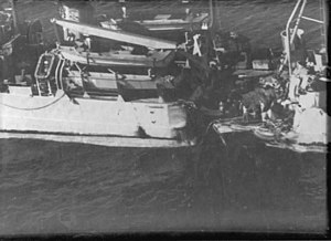 USS Ruchamkin (APD-89) damage