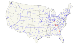 U.S. Route 25 - Image: US 25 map