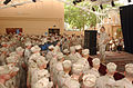 US Navy 030601-N-1938G-006 Gen. Tommy Franks, Commander, Central Command, speaks with Sailors and Marines at Naval Support Activity (NSA) Bahrain's Desert Dome.jpg