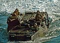 US Navy 051206-N-9698C-031 U.S. Marines assigned to 3rd Battalion, Echo Company, maneuver their Amphibious Assault Vehicle (AAV), into position.jpg