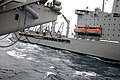 US Navy 090724-N-8960W-021 The Military Sealift Command fleet replenishment oiler USNS Yukon (T-AO 202) delivers jet fuel to the aircraft carrier USS Nimitz (CVN 68) during a replenishment at sea.jpg