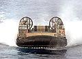 US Navy 100322-N-1082Z-047 Landing Craft Air Cushion (LCAC) 89 returns to USS Ashland (LSD 48).jpg