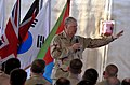 US Navy 100326-N-8273J-200 Chief of Naval Operations (CNO) Adm. Gary Roughead speaks with Sailors, Marines and Navy civilians during an all-hands call at Camp Lemonnier, Djibouti.jpg