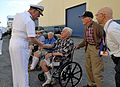 US Navy 100430-N-8273J-218 Adm. Gary Roughead thanks veterans of the battle of Iwo Jima for their service.jpg