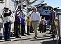 US Navy 101031-N-1531D-003 Dutch Ambassador to Suriname Aart Jacobi walks through rainbow sideboys during a tour of the multi-purpose amphibious as.jpg