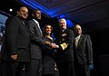 US Navy 110218-N-ZB612-052 Chief of Naval Operations (CNO) Adm. Gary Roughead presents John H. James, Jr., director of the National Security Person.jpg