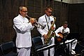 US Navy 110923-N-RH386-155 Senior Chief Musician Chris Walker, left, Musician 1st Class Jeremy Saunders and Chief Musician Kenny Carr.jpg