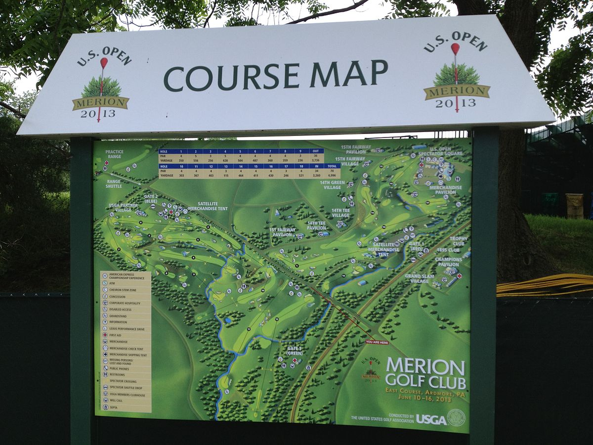 Us Open Course Map File:US Open 2013 Course Map.   Wikimedia Commons