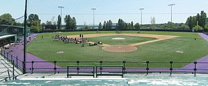 Washington Huskies baseball - Image: U of Wash Chaffey Field pano 01