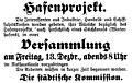 Uetersen Bekanntmachung Hafenprojekt 1918.jpg