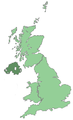 Uk map only northern ireland.png