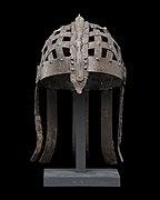 Colour photograph of the Ultuna helmet