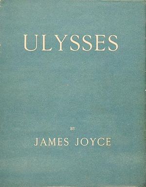 Stream of consciousness (narrative mode) - Cover of James Joyce's Ulysses (first edition, 1922), considered a prime example of stream of consciousness writing styles.