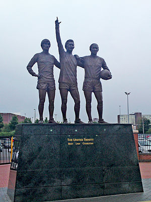 United Trinity - Statue outside Old Trafford depicting the United Trinity.