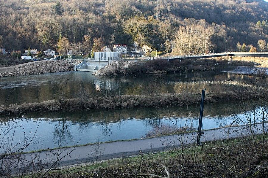 Micro-centrale des deux Suzanne au barrage de la Malate à Besançon.