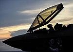 VX-23 pilot preparing to exit his F-35C Lightning II on USS George Washington (CVN-73) (160818-N-VH385-168).jpg