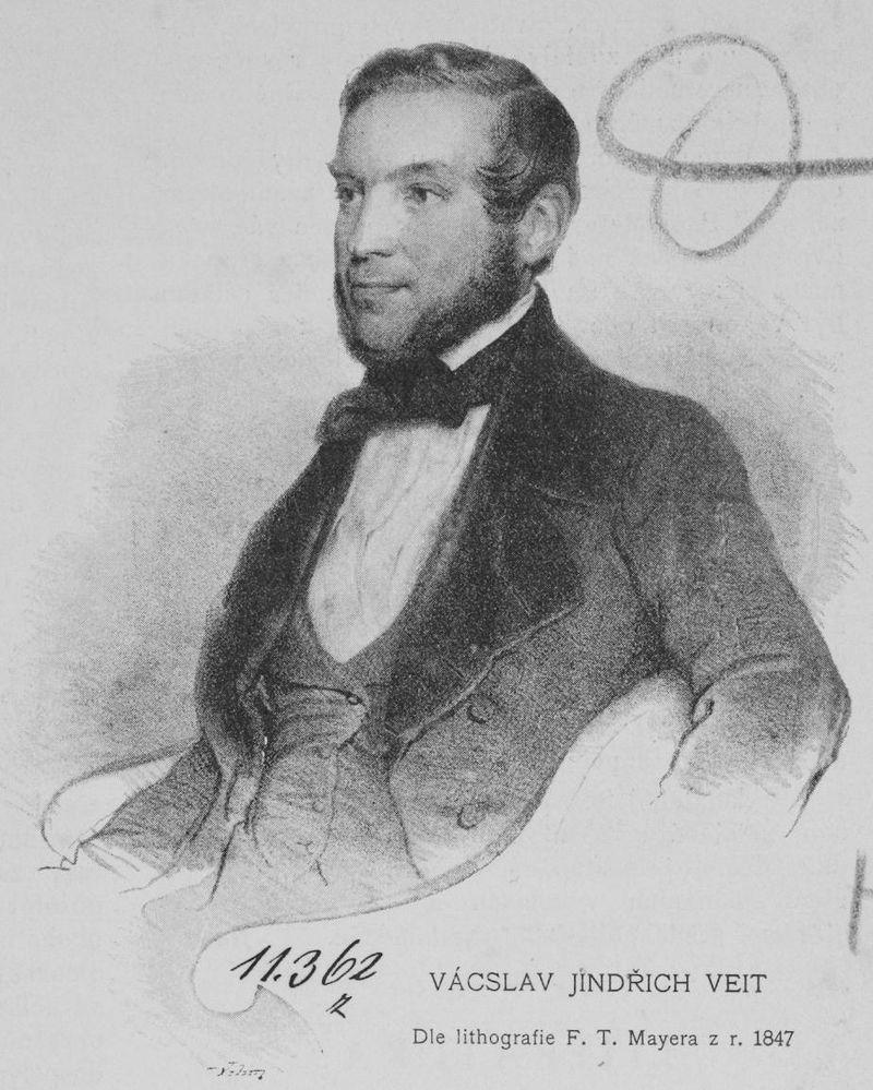 Václav Jindřich Veit na obraze Jana Vilíma, 1847