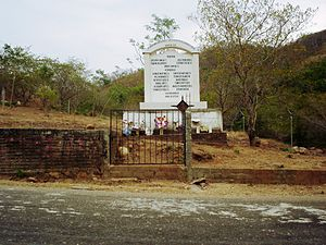 Aguas Blancas massacre - Monument in Aguas Blancas, Guerrero.