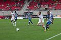 Valais Cup 2013 - OM-FC Porto 13-07-2013 - Benoit Cheyrou, Josué, Morgan Amalfitano et Alex Sandro.jpg