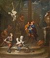 Van Den Bossche, Bottega dello scultore con visita del collezionista, 69x59.jpg