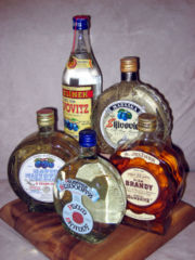 Various bottles of Slivovitz