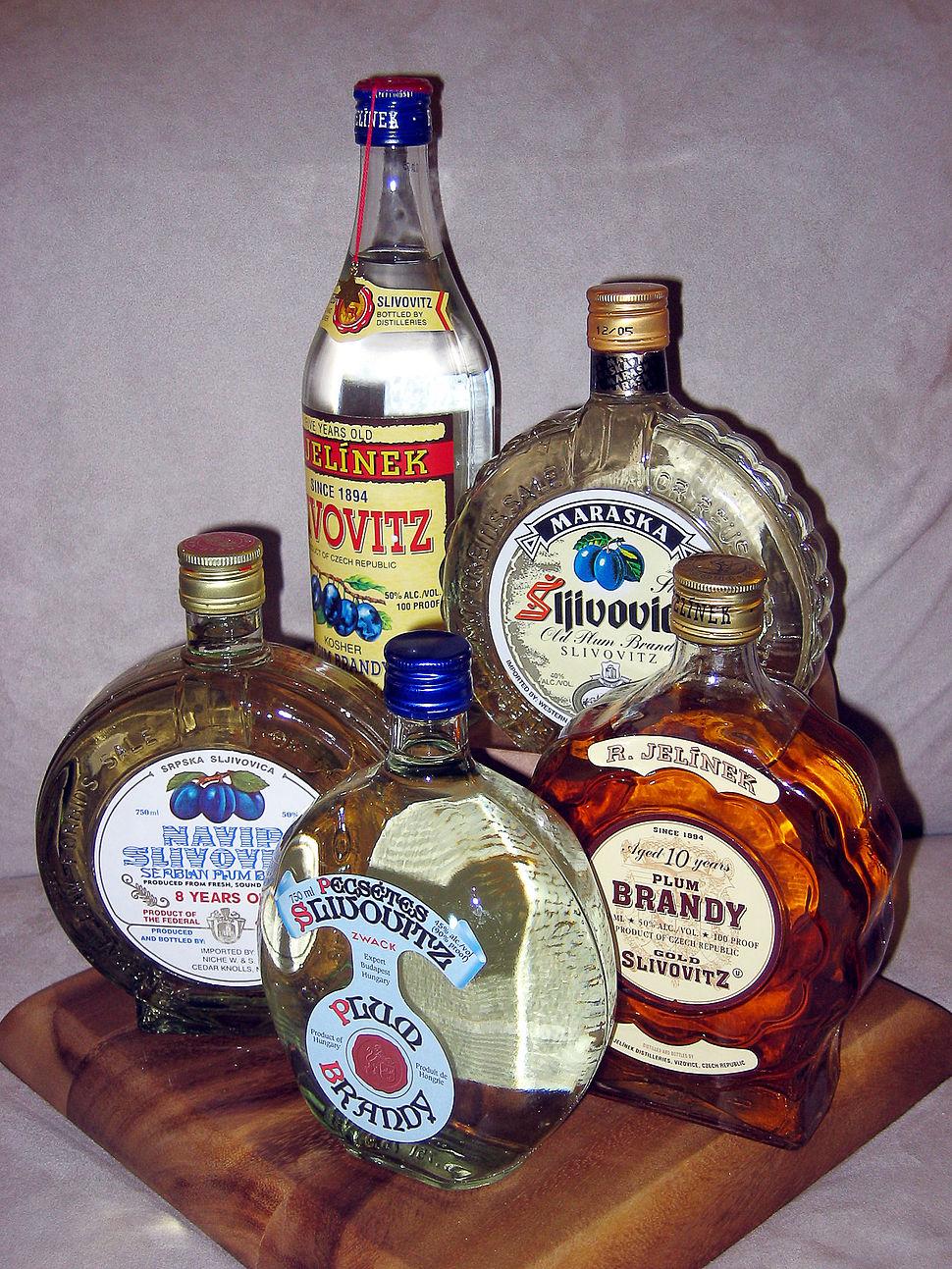 Various Bottles of Slivovitz