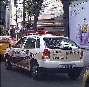 Municipal Guards - Vehicle of the Municipal Guard in Rio de Janeiro