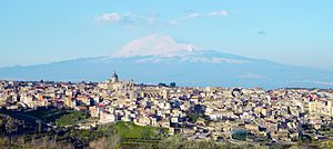 Militello in Val di Catania - Image: Veduta di Militello