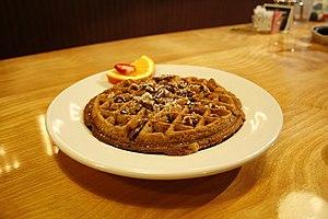 Waffle Shop: A Reality Show - Image: Vegan waffle, Pittsburgh Waffle Shop