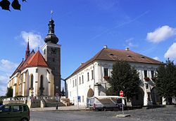 St Catherine church and Town hall