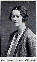 Verena Holmes, President of the Women's Engineering Society 1930.jpg