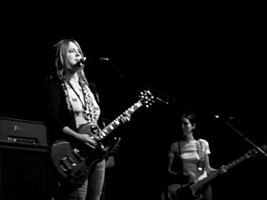 Veruca Salt - Louise Post (left) and Nicole Fiorentino (right) in 2006 with Veruca Salt