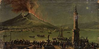 Timeline of Naples - An 18th-century painting depicting an eruption of Mount Vesuvius.