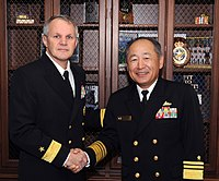 Vice Adm. Katsutoshi Kawano and Rear Adm. Phillip G. Sawyer at Yokosuka.jpg