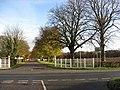 View across A60 - Driveway next to Main Gates Lodge - geograph.org.uk - 1045845.jpg