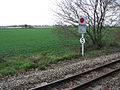 View across narrow gauge railway track - geograph.org.uk - 1236396.jpg