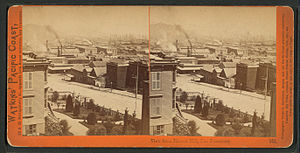 Rincon Hill, San Francisco - View from Rincon Hill during the 19th century.