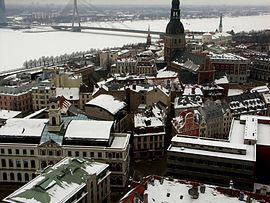 View from St. Peter's Church, Riga 2.JPG