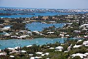 View from top of Gibbs Lighthouse Bermuda