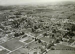 Beaverton, Oregon - Aerial view of Beaverton in the 1950s