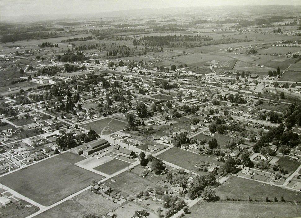 View of Beaverton 1950's (Beaverton, Oregon Historical Photo Gallery) (10)