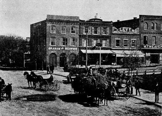 View of Buck Hotel Asheville North Carolina 1888