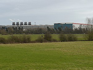 Llanwern steelworks - View of part of Llanwern steelworks