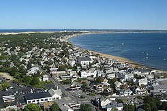 View of Provincetown from Pilgrim Monument looking east, MA.jpg