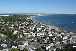 Aerial view of Provincetown