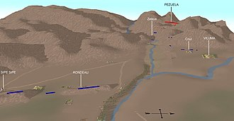 Battle of Sipe-Sipe - Initial situation of both armies before the battle