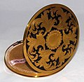 Vintage Rex Fifth Avenue Women's Powder Compact, Measures 4 Inches In Diameter, Made In USA (31958343333).jpg