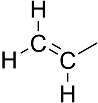 Vinyl group - Chemical structure of the vinyl functional group.